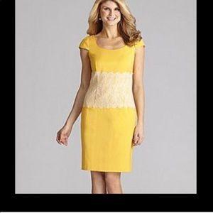 NWT Antonio Melani Carrine yellow dress size 6